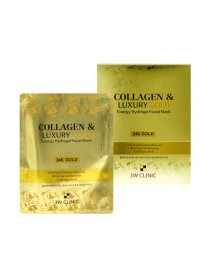 [3W CLINIC] Collagen & Luxury Gold Energy Hydrogel Facial Mask - 1Pack (5ea)