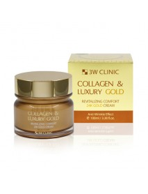 [3W CLINIC] Collagen & Luxury Gold Revitalizing Comfort 24K Gold Cream - 100ml