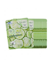 [3W CLINIC] Fresh Cucumber Mask Sheet - 10pcs