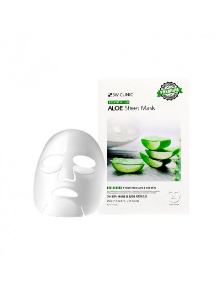 [3W CLINIC] Essential Up Sheet Mask - 1Pack (10ea) #Aloe