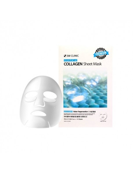 [3W CLINIC] Essential Up Sheet Mask - 1Pack (10ea) #Collagen