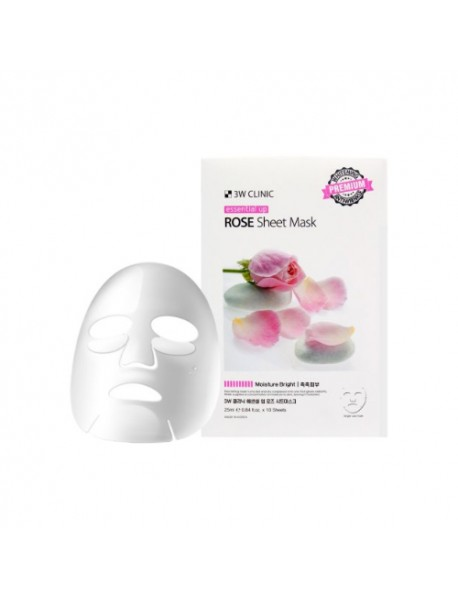 [3W CLINIC] Essential Up Sheet Mask - 1Pack (10ea) #Rose
