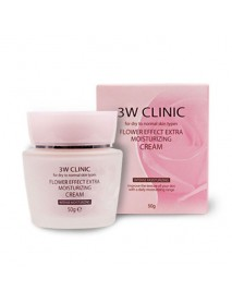 [3W CLINIC] Flower Effect Extra Moisturizing Cream - 50g