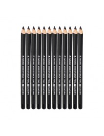 [3W CLINIC] Wood Eye Brow Pencil - 12ea #01 Black