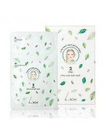 [A. BY BOM] 2 Step Ultra Cool Leaf Mask - 1Pack (10pcs)