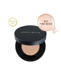 [APRIL SKIN] Magic Snow Cushion Black 2.0 - 15g (SPF50+ PA+++) #22 Pink Beige