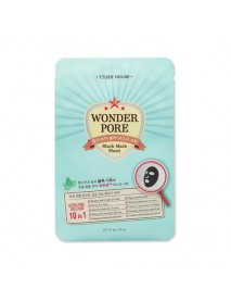 [ETUDE HOUSE] Wonder Pore Black Mask Sheet - 1Pack(10pcs)