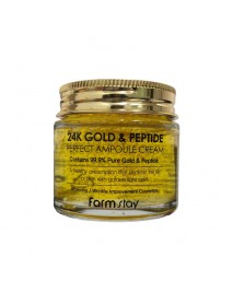 [FARM STAY] 24K Gold & Peptide Perfect Ampoule Cream - 80ml