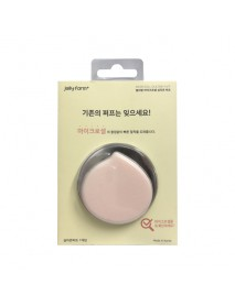 [JELLY FARM+] Micro Cell Silicone Puff (Peach) - 1ea