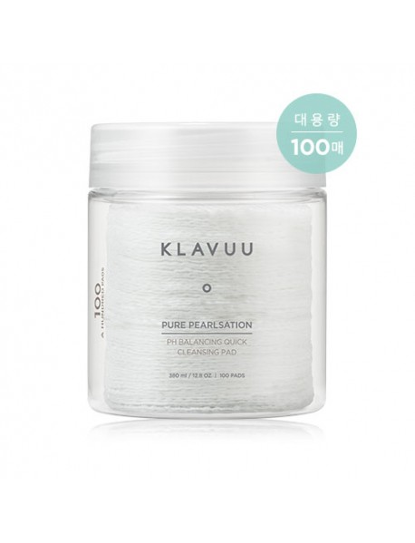 [KLAVUU] Pure Pearlsation pH Balancing Quick Cleansing Pad - 380ml (100pads)