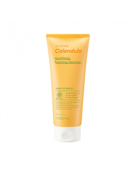 [MISSHA] Su:nhada Calendula Soothing Cleansing Foam - 200ml