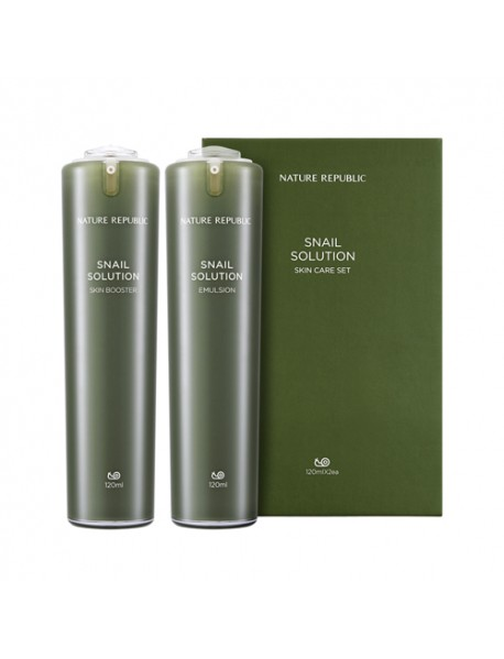 [NATURE REPUBLIC] Snail Solution Skin Care Set - 1Pack(2items)