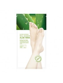 [NATURE REPUBLIC_50% Sale] Real Squeeze Aloe Vera Peeling Foot Mask - 1Pack (2pcs)