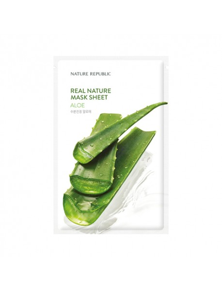 [NATURE REPUBLIC] Real Nature Mask Sheet - 23ml #Aloe