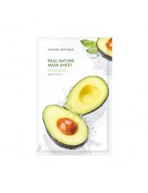 [NATURE REPUBLIC] Real Nature Mask Sheet - 23ml #Avocado