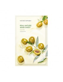 [NATURE REPUBLIC] Real Nature Mask Sheet - 23ml #Olive