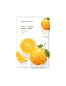 [NATURE REPUBLIC] Real Nature Mask Sheet - 23ml #Orange