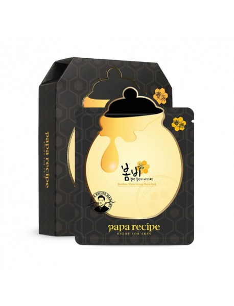 [PAPARECIPE] Bombee Black Honey Mask - 1Pack (10pcs)
