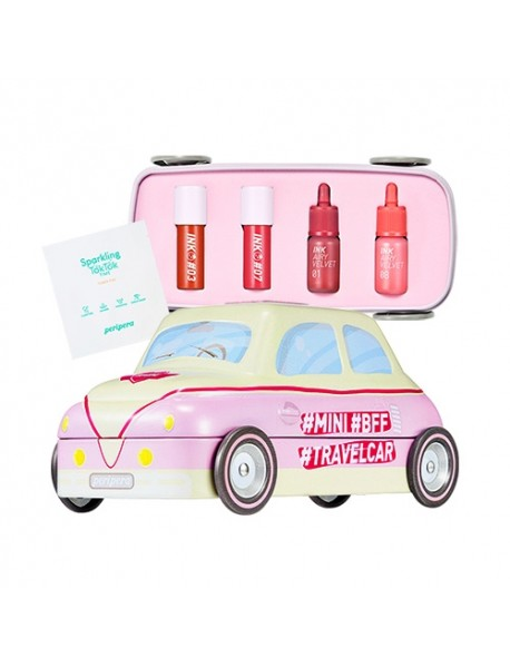 [PERIPERA] Mini Travel Car Kit Coral - 1Pack (6items)