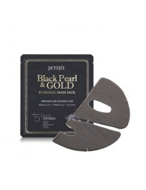 [PETITFEE] Black Pearl & Gold Hydrogel Mask - 1Pack(5pcs)