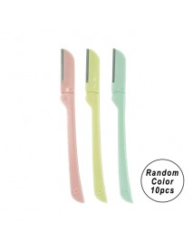 [PRINSIA] Folding Eyebrow Razor - 10pcs (Random Color)