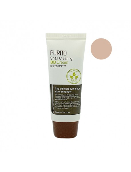 [PURITO_BW] Snail Clearing BB Cream - 30ml #23 Natural Beige