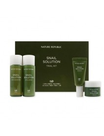 [NATURE REPUBLIC_SP] Snail Solution Trial Kit - 1Pack (4items)