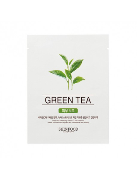 [SKINFOOD] Beauty In A Food Mask Sheet - 1pcs #Green Tea