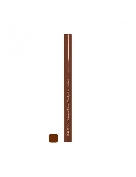 [THE SAEM] Eco Soul Powerproof Super Slim Eyeliner - 0.1g #BR04 Mellow Brown