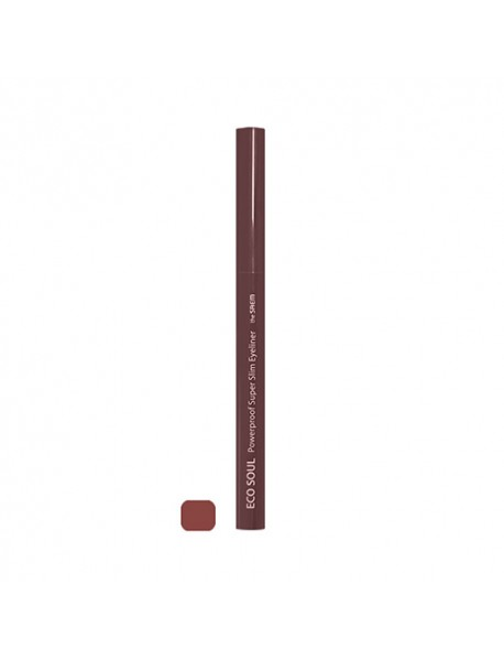 [THE SAEM] Eco Soul Powerproof Super Slim Eyeliner - 0.1g #BR06 Rose Brown