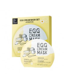 [TOO COOL FOR SCHOOL_SFY] Egg Cream Mask - 1Pack (5pcs) #Hydration (EXP : 2021.12)