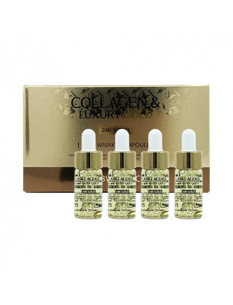 [3W CLINIC] Collagen & Luxury Gold Anti Wrinkle Ampoule - 1Pack (13ml x 4ea)