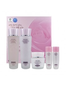 [3W CLINIC] Flower Effect Extra Moisturizing Skin Care Set - 1Pack (5items)