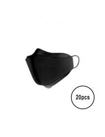 [A3] Teddy Bear 3D Color Mask L Size - 20pcs #Black