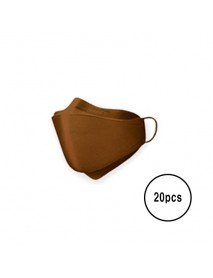 [A3] Teddy Bear 3D Color Mask L Size - 20pcs #Brown