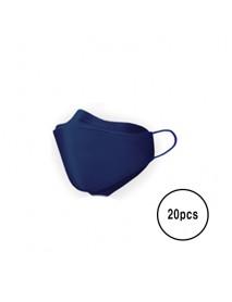 [A3] Teddy Bear 3D Color Mask L Size - 20pcs #Navy