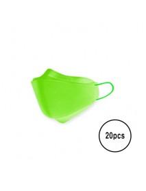 [A3] Teddy Bear 3D Color Mask L Size - 20pcs #Green