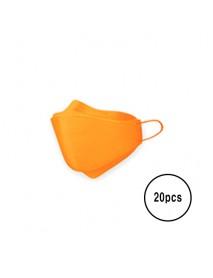 [A3] Teddy Bear 3D Color Mask L Size - 20pcs #Orange