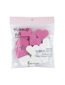 [ETUDE HOUSE] My Beauty Tool Heart-Shaped Sponge - 1Pack (20pcs)