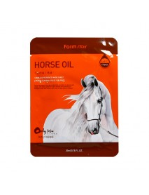 [FARM STAY_BS] Visible Difference Mask Sheet -1Pack (10pcs) #Horse Oil