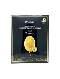 [JM SOLUTION] Honey Luminous Royal Propolis Hydrogel Mask Black - 1Pack (10ea)