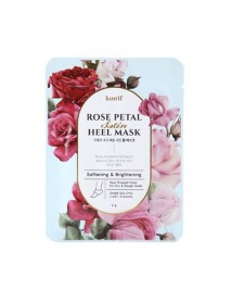 [KOELF_PKD] Rose Petal Satin Heel Mask - 1pcs