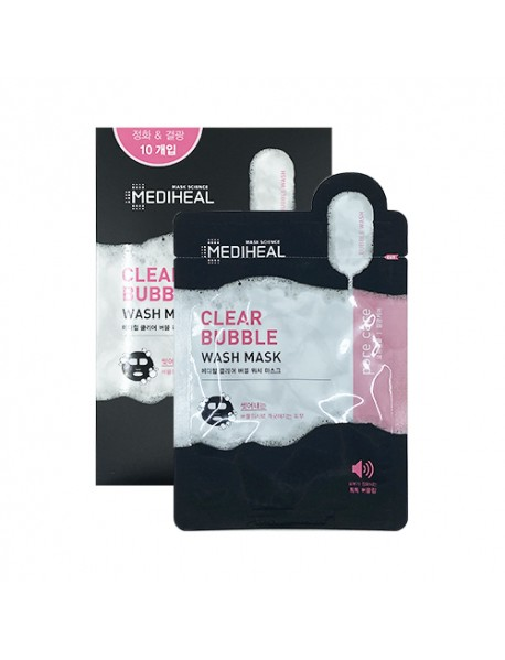 [MEDIHEAL] Clear Bubble Wash Mask - 1Pack (20ml x 10pcs)