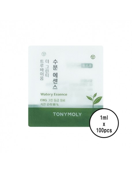 [TONYMOLY_SP] The Green Tea True Biome Watery Essence Testers - 100pcs (1ml x 100pcs) [★BUNDLE★]