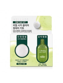 [WELLAGE] Real Cica Clear Bio Capsule & Calming Solution Kit - 1Pack (15mg+1ml)